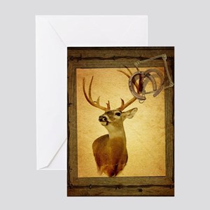 western country deer Greeting Card