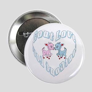 Goat Love Heart Button
