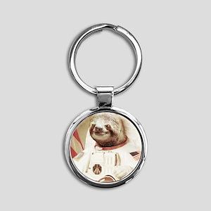 Astronaut Slot Round Keychain