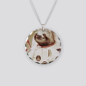 Astronaut Slot Necklace Circle Charm