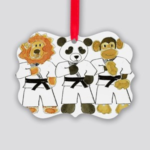 Kung Fu Critters Picture Ornament
