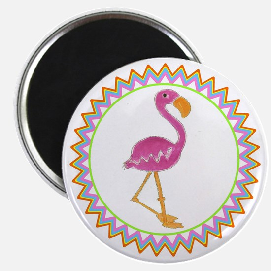 Pink Flamingo Multi Zig Zag Magnet