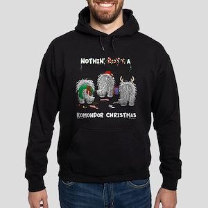 Komondor Christmas Hoodie (dark)