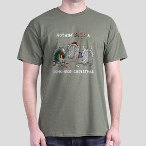 Komondor Christmas Dark T-Shirt