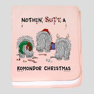 Komondor Christmas baby blanket