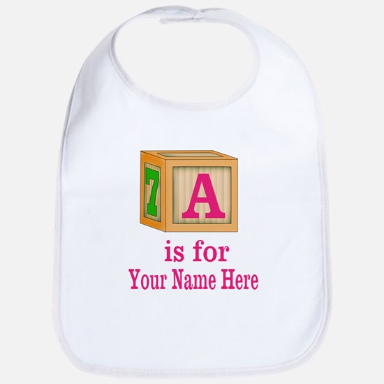Custom Pink Block Bib