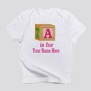 Custom Pink Block Infant T-Shirt