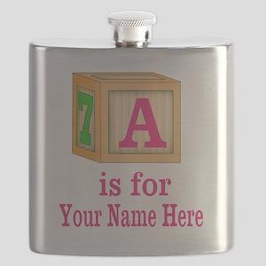 Custom Pink Block Flask