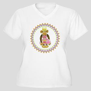 Princess Monkey P Women's Plus Size V-Neck T-Shirt