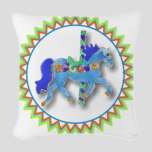 Carousel Horse Zig Zag Woven Throw Pillow