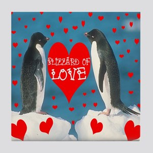 BLIZZARD OF LOVE Tile Coaster
