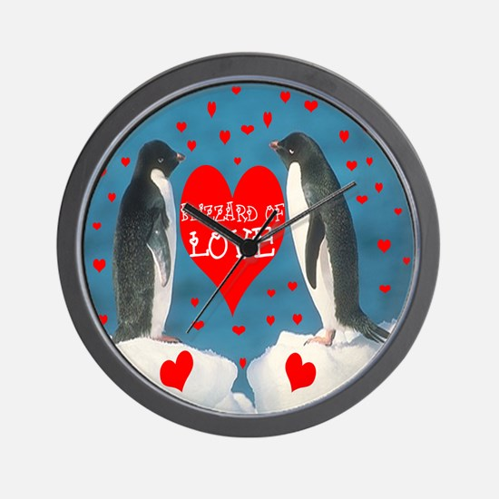 BLIZZARD OF LOVE Wall Clock