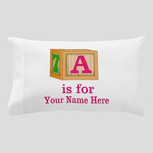 Custom Pink Block Pillow Case