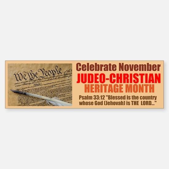 Heritage Month Sticker (Bumper)
