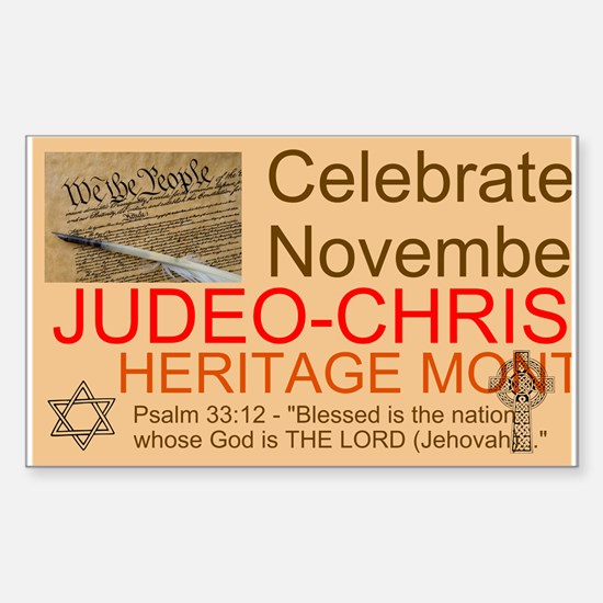 Heritage Month Sticker (Rectangle)