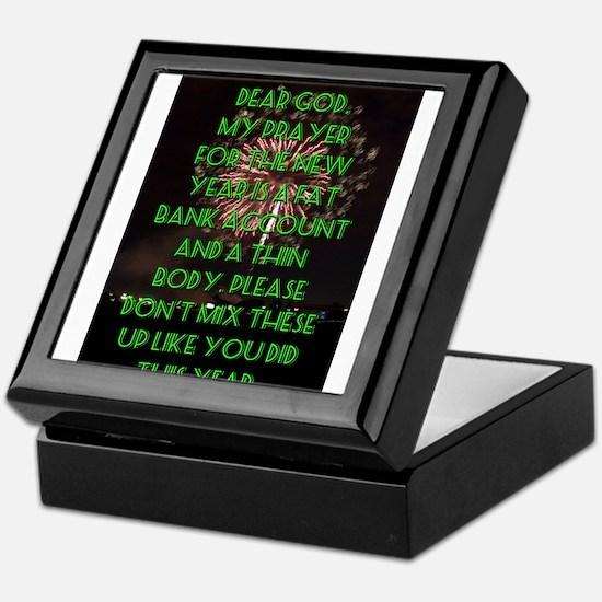 Dear God My Prayer For The New Year Keepsake Box