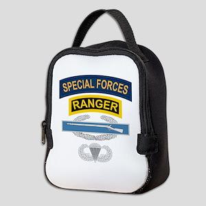 SF Ranger CIB Airborne Neoprene Lunch Bag