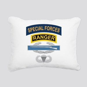 SF Ranger CIB Airborne Rectangular Canvas Pillow