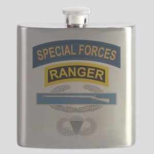 SF Ranger CIB Airborne Flask