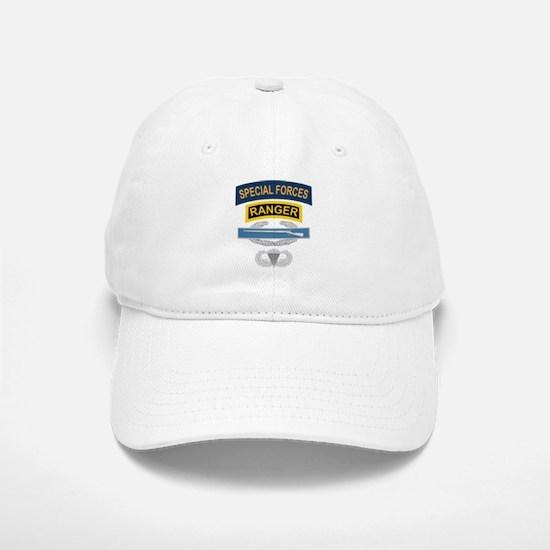 SF Ranger CIB Airborne Baseball Baseball Cap