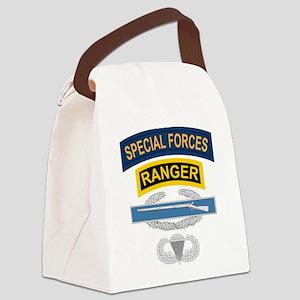SF Ranger CIB Airborne Canvas Lunch Bag