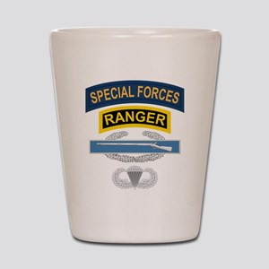 SF Ranger CIB Airborne Shot Glass