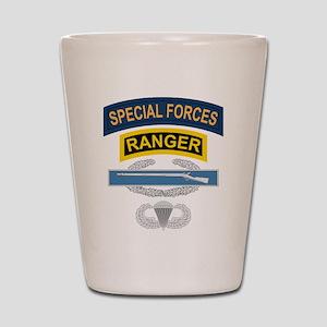 SF Ranger CIB Airborne Shot Glass
