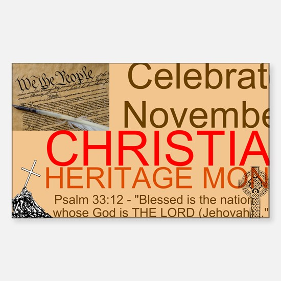 HERITAGE MONTH 2 Sticker (Rectangle)