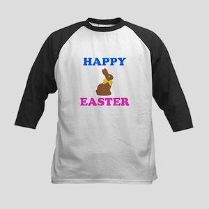 Chocolate Bunny Happy Easter Baseball Jersey
