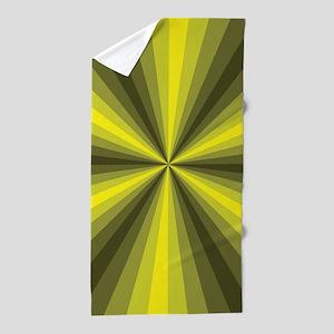 Yellow Illusion Beach Towel