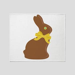 Chocolate Bunny Throw Blanket