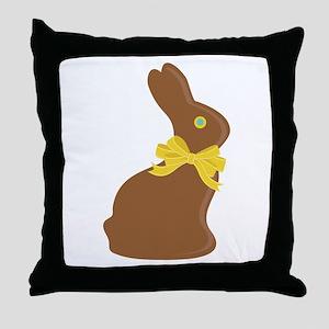 Chocolate Bunny Throw Pillow