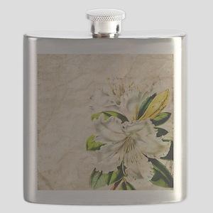 vintage lily botanical art Flask