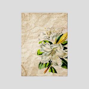 vintage lily botanical art 5'x7'Area Rug