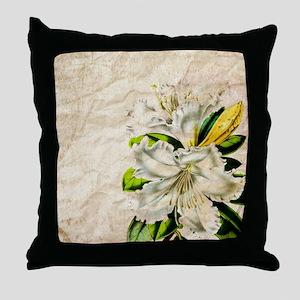 vintage lily botanical art Throw Pillow