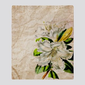 vintage lily botanical art Throw Blanket