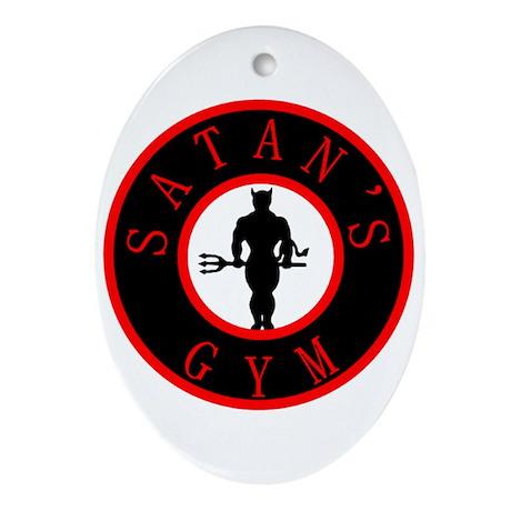 Satan's Gym 2 Oval Ornament