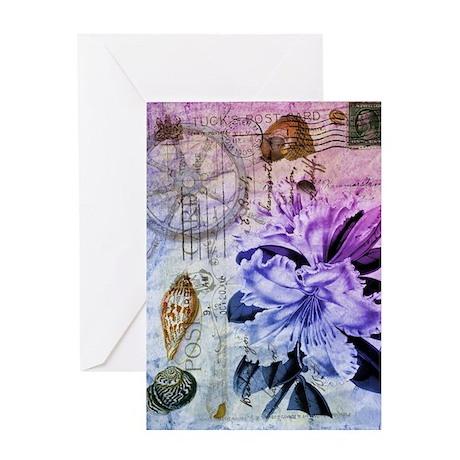vintage lily botanical art Greeting Card