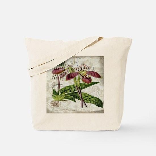 vintage orchid botanical art Tote Bag