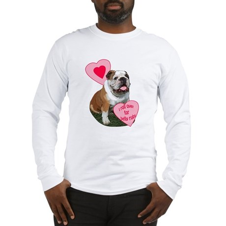 bulldog kisses Long Sleeve T-Shirt