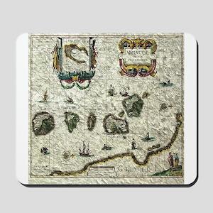 vintage map 1 Mousepad