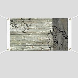 barnwood swirls western country Banner