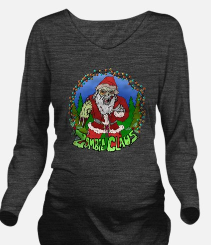 Zombie Claus Long Sleeve Maternity T-Shirt