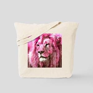Lion On wood Tote Bag