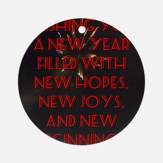 Wishing You A New Year Round Ornament