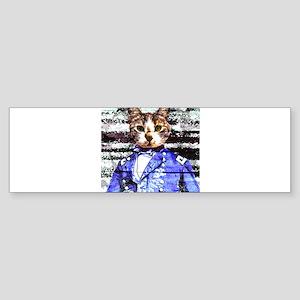 Captain Meow rework Bumper Sticker