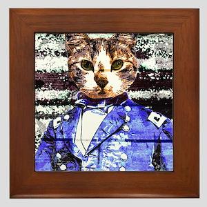 Captain Meow rework Framed Tile
