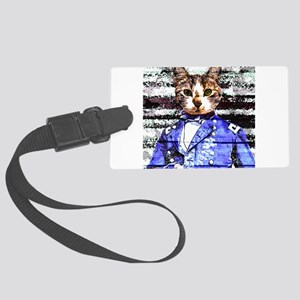 Captain Meow rework Luggage Tag