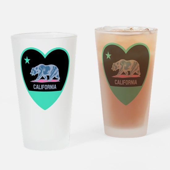 Love California - Bright Drinking Glass