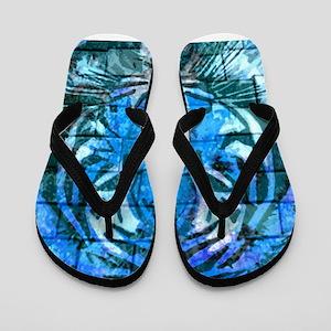 Blue Cat Flip Flops